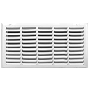Return Air Filter Grille | Removable Face Door HVAC Duct Cover Grill for 1-inch Filter, Steel, White