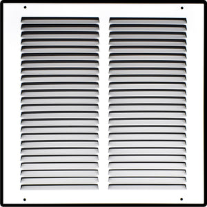 Heavy Duty Steel Return Air Grille | HVAC Vent Cover Grill for Sidewall and Ceiling, White
