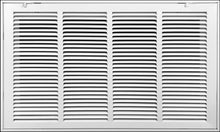 Load image into Gallery viewer, Steel Return Air Grille by HANDUA | Fixed Hinge HVAC Duct Cover Grill for Sidewall and Ceiling, White