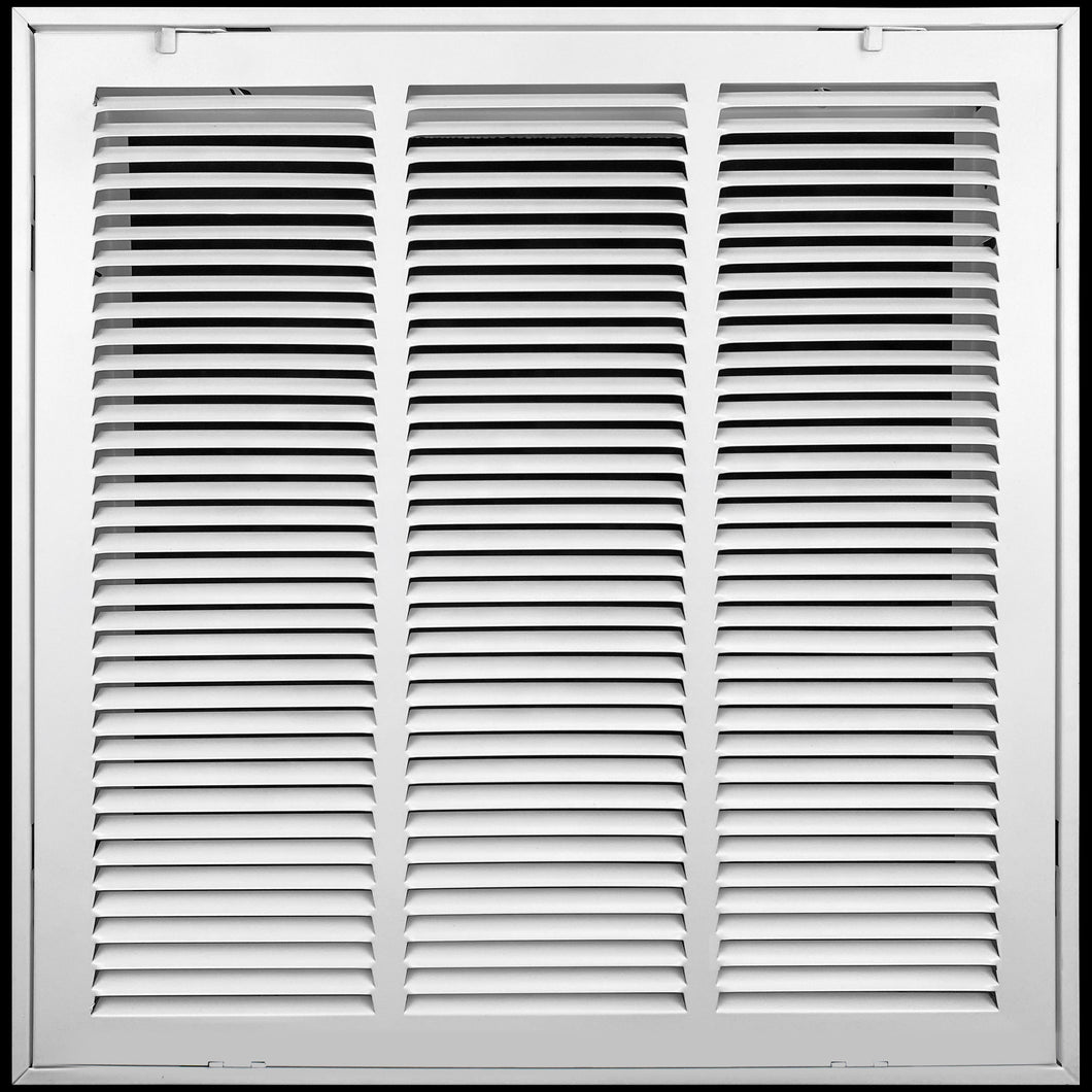 Steel Return Air Grille by HANDUA | Fixed Hinge HVAC Duct Cover Grill for Sidewall and Ceiling, White
