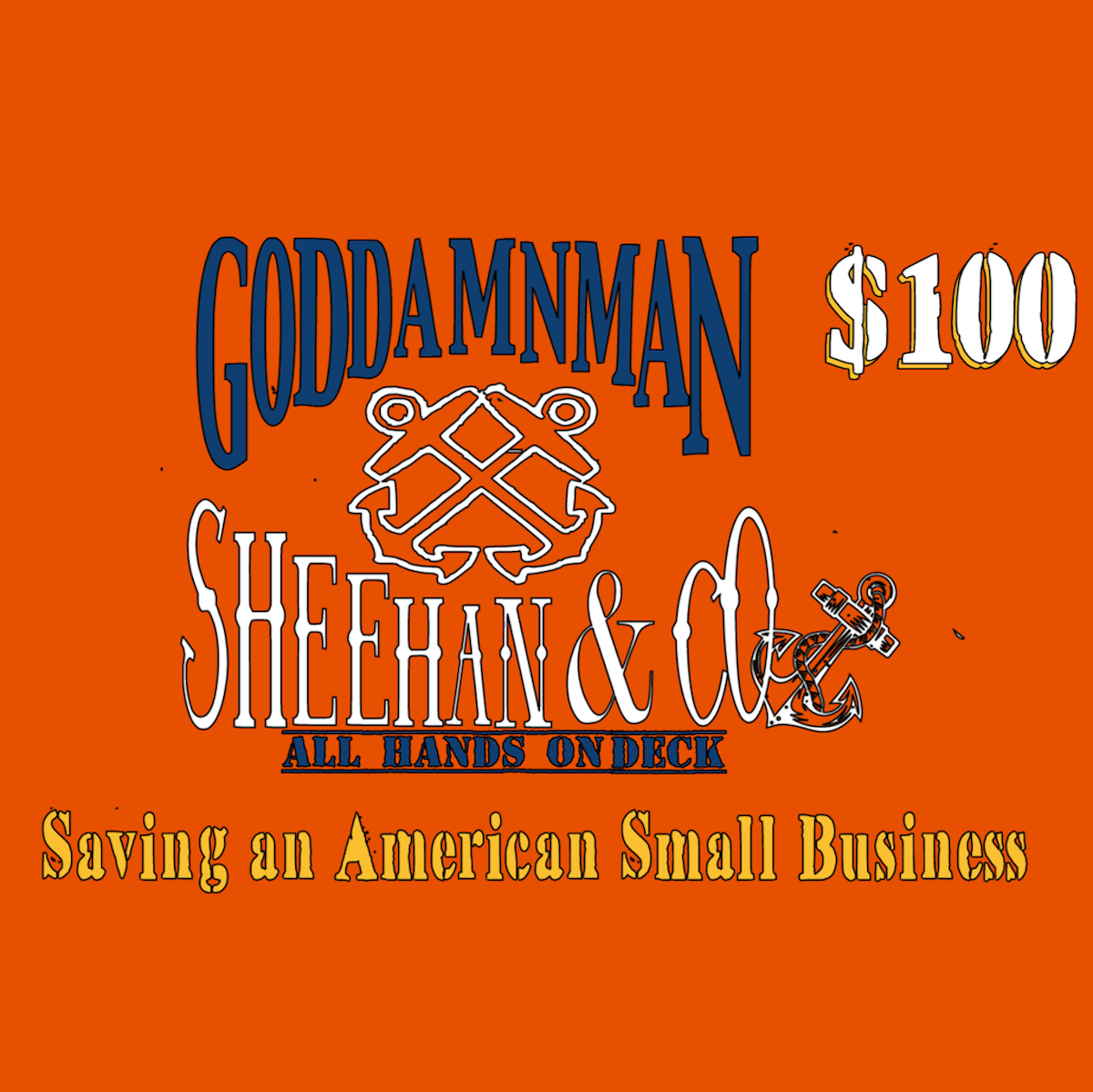 $150 Thermal Incentive Goddamn Man and Sheehan Investment Card