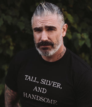 Tall, Silver, Handsome Statement Tee