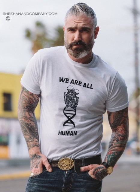 We Are All Human Statement Tee Pandemic Relief