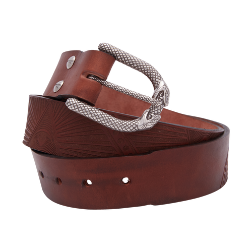 All Seeing Eye Brown Leather Belt