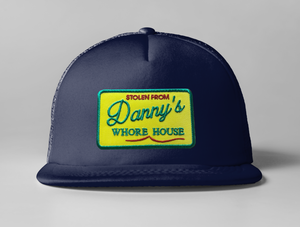 Embroidered Dannys Whore House Trucker Hat