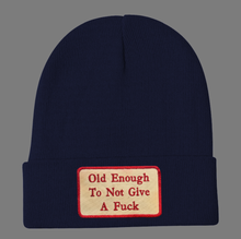 Load image into Gallery viewer, Embroidered Old Enough Beanie