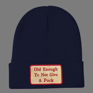 Embroidered Old Enough Beanie