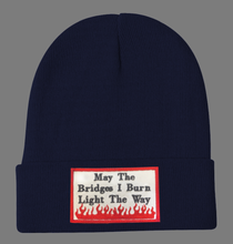 Load image into Gallery viewer, Embroidered May The Bridges Beanie