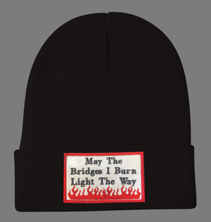 Embroidered May The Bridges Beanie