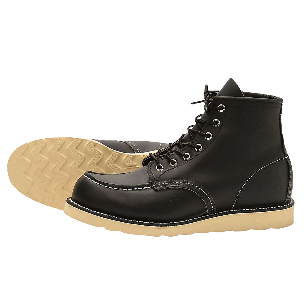 Red Wing Classic MOC Style NO. 9075 Black Harness Leather