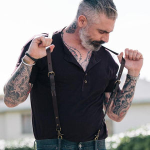 Classic Leather Suspender