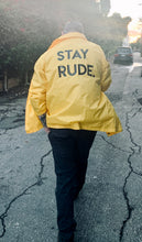 Load image into Gallery viewer, Stay Rude Statement Jacket
