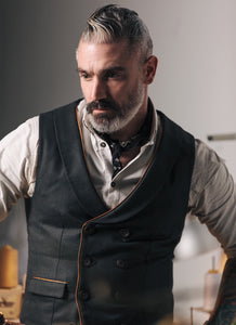 Double Breasted Vest Waistcoat Made to Measure by Sheehan