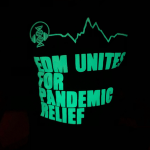 EDM Unites for Pandemic Relief Long Sleeve Glow in the Dark Tee Luciana for Sheehan
