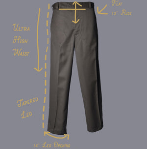 Ponce Pant High Waisted Trouser Made To Measure By Sheehan