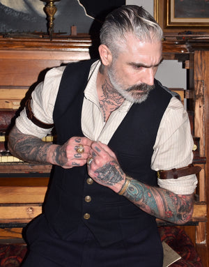 V-Neck Vest Waistcoat Made to Measure by Sheehan
