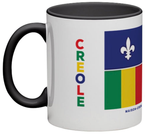 Creole Proud Coffee Mug / Black