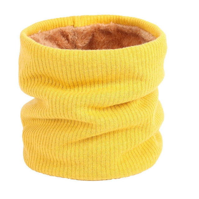 Yellow Neck Ring Scarf