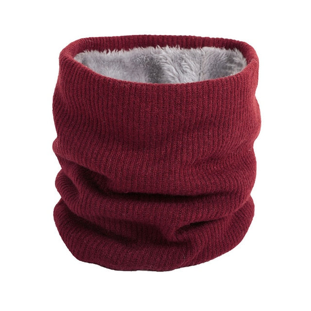 Dark Red Neck Ring Scarf