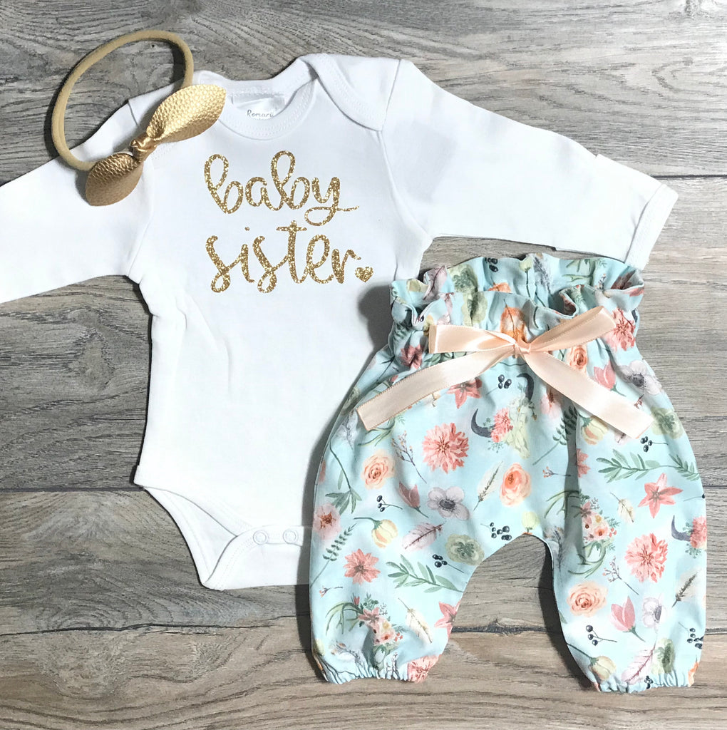 Newborn Coming Home Outfit Baby Girl - Baby Sister ...