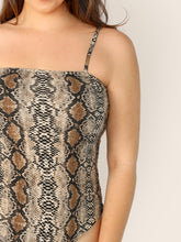 Load image into Gallery viewer, Plus Snakeskin Print Cami Bodysuit