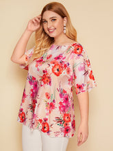 Load image into Gallery viewer, Plus Floral Print Top
