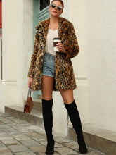 Load image into Gallery viewer, Leopard Print Faux Fur Coat