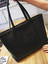 Load image into Gallery viewer, Croc Embossed Tote Bag