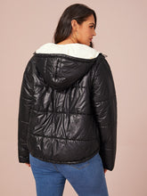Load image into Gallery viewer, Plus Zip Up Hooded Puffer Jacket