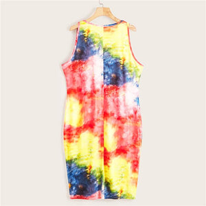 Plus Tie Dye Tank Dress