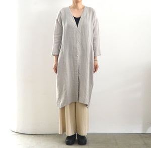 evam eva linen drop pocket robe