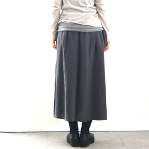 evam eva linen drop pocket skirt