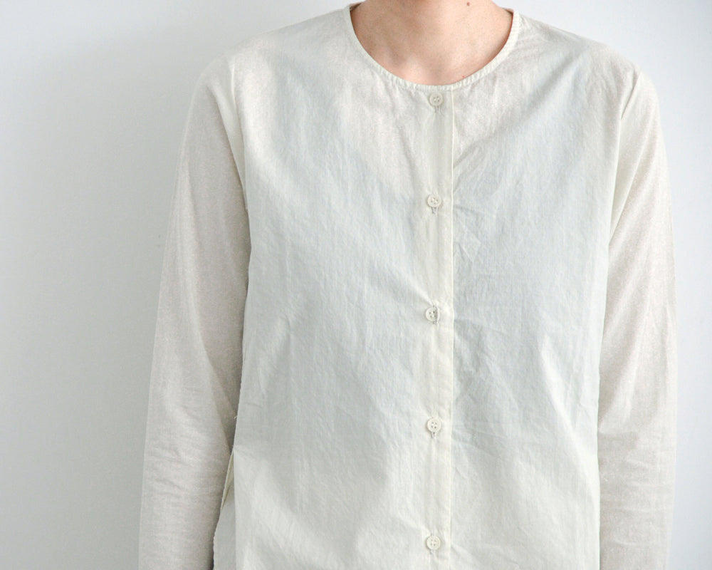 evam eva cotton slit shirt