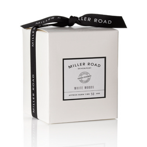 Miller Road Soy Candle - White Woods