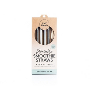 CaliWoods Smoothie Straw 4 Pack