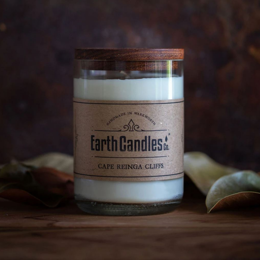 Earth Candles - Wine Bottle Soy Candle - Cape Reinga Cliffs