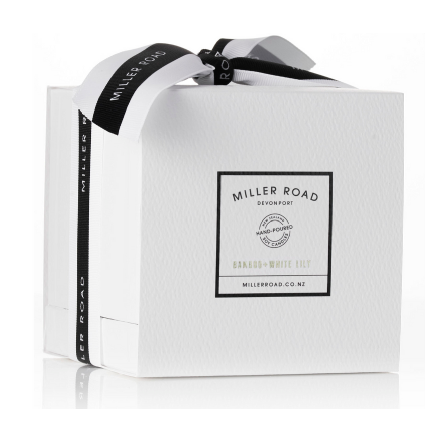 Miller Road Luxury Candle - Bamboo & White Lily
