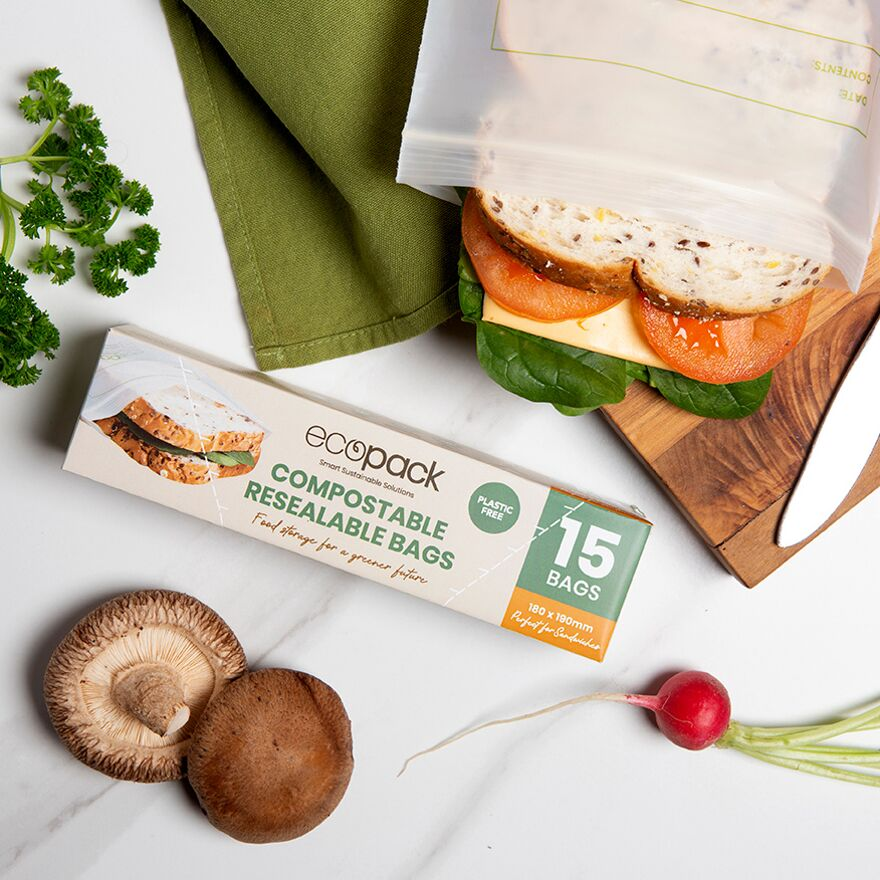Sandwich Bags - Resealable & Compostable