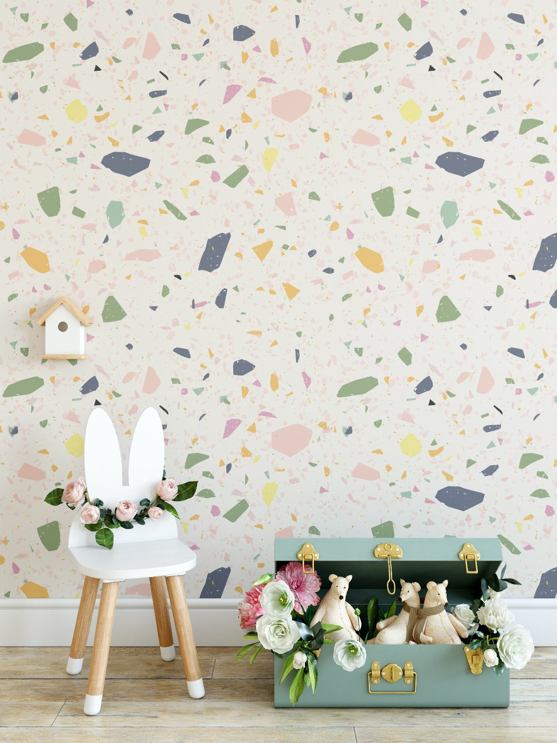 Kids Wallpaper -  Cotton Candy Terrazzo
