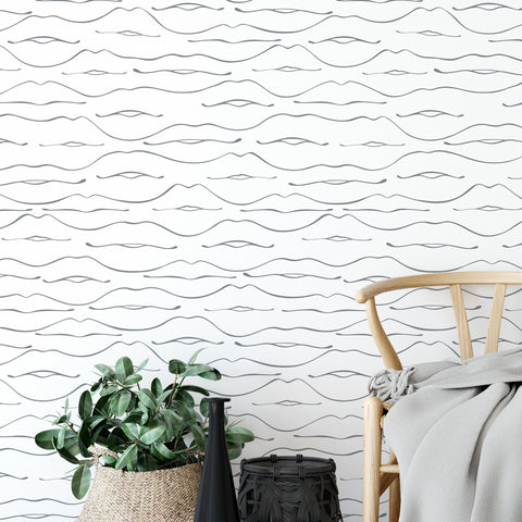 Wallpaper, peel and stick wallpaper, modern wallpaper, removable wallpaper, minimal wallpaper, floral wallpaper, designer wallpaper, home decor, home renovation, wall decor, wall art, wall covering, peel n stick, abstract wallpaper, love wallpaper, peel n stick wallpaper, black and white wallpaper,