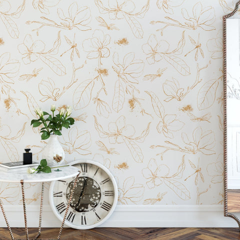 Wallpaper, peel and stick wallpaper, modern wallpaper, removable wallpaper, minimal wallpaper, floral wallpaper, designer wallpaper, home decor, home renovation, wall decor, wall art, wall covering, peel n stick,