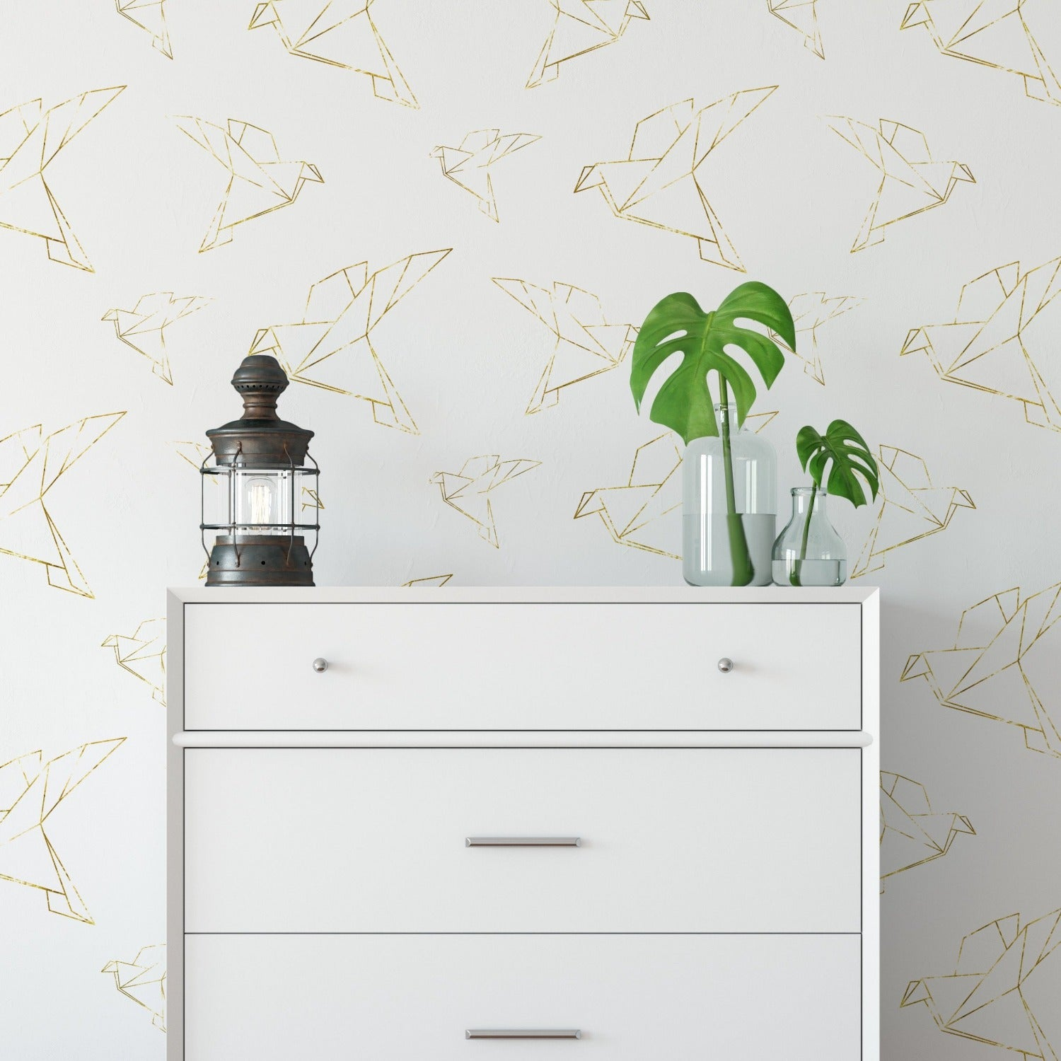 Gold Origami Wallpaper - Gold Dove