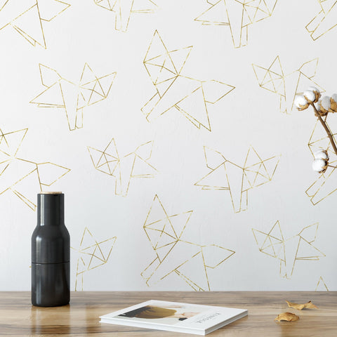 Gold Origami Wallpaper - Gold Fox