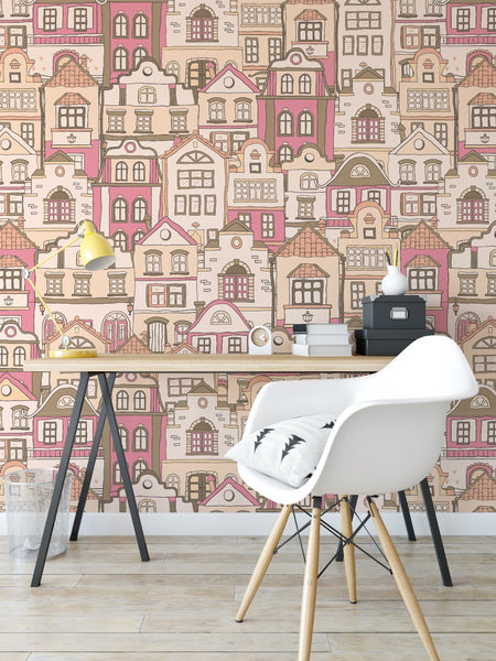 Scandi Townhouse Wallpaper V