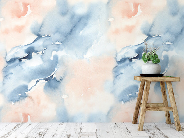 Watercolour Handpainted Wallpaper