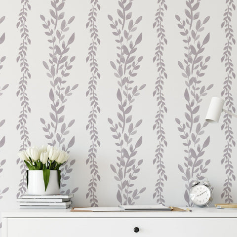 Hand Painted Floral Wallpaper