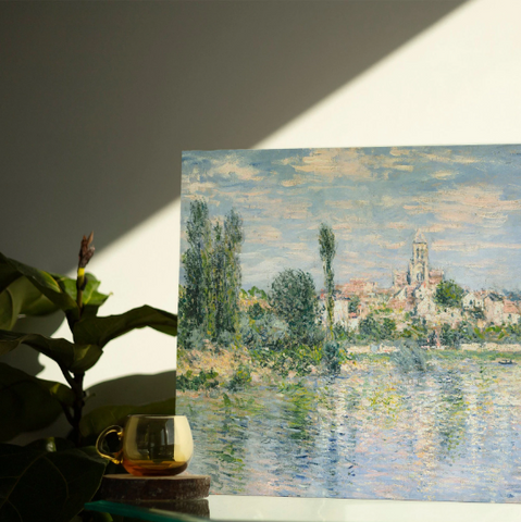 Handpainted Minimal Painted Dots - Blue