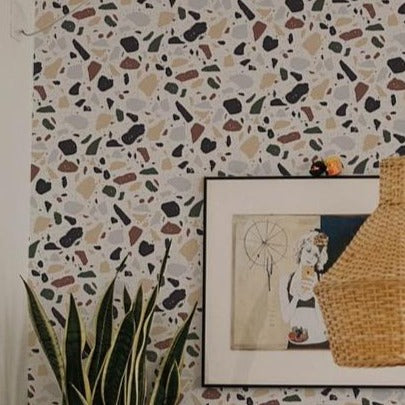 Earth Terrazzo Wallpaper. Terrazzo Collection. More colours Available.