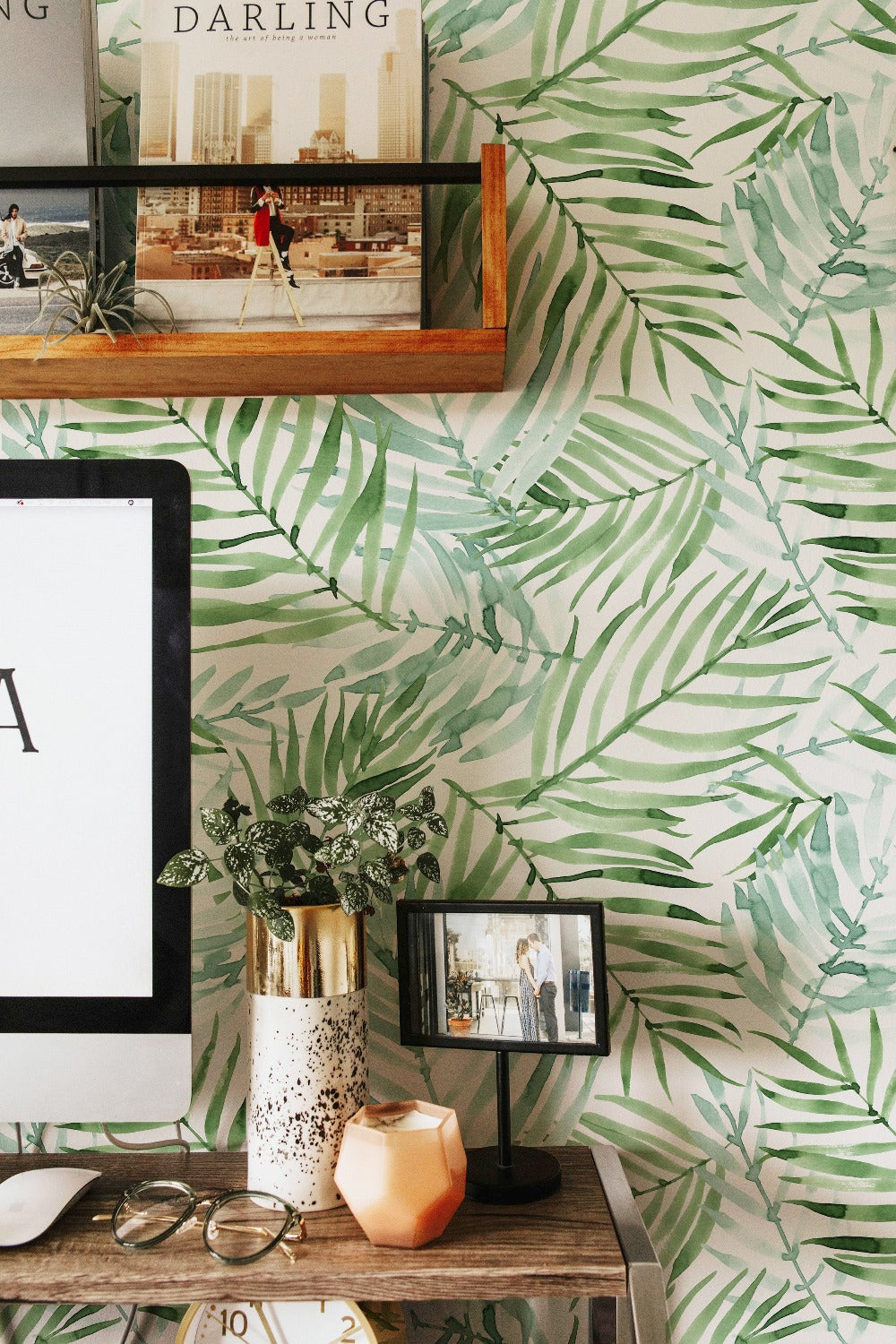 Hand Painted Tropical Wallpaper