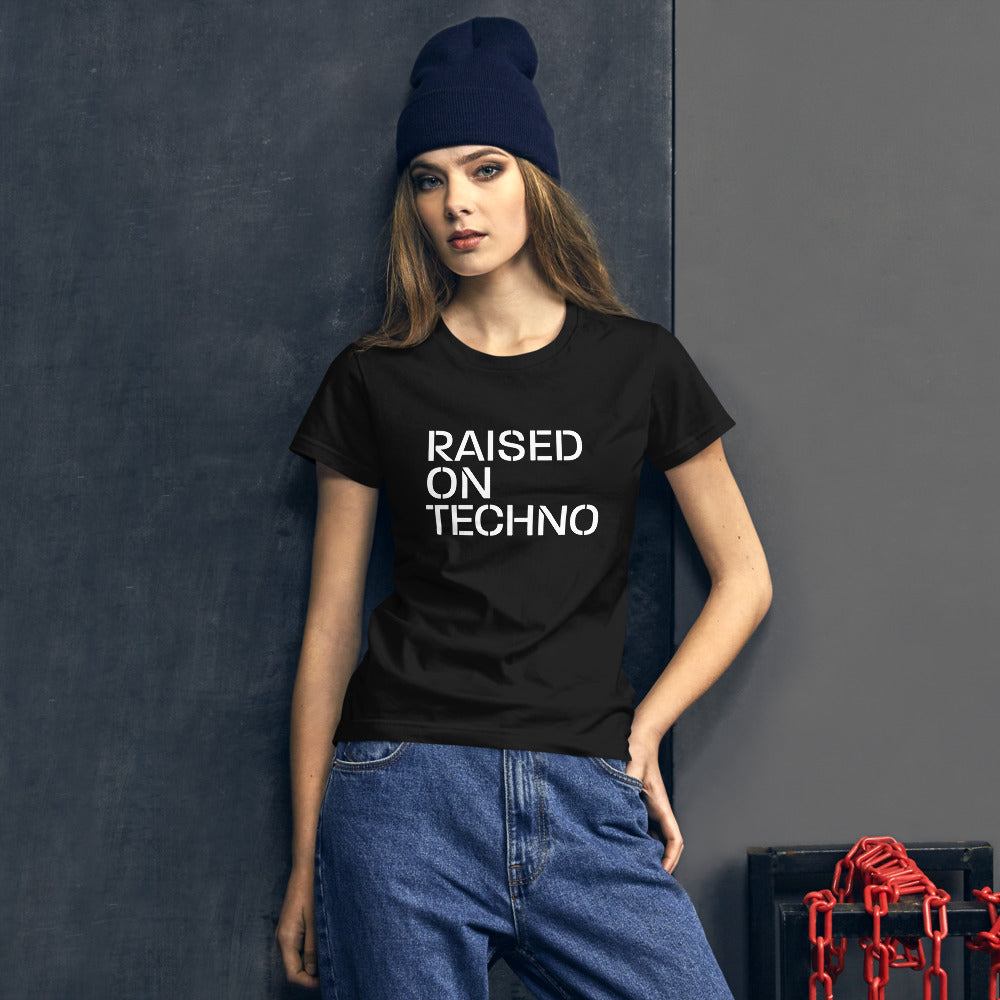 Raised On Techno Women's T Shirt
